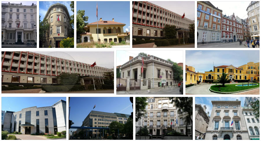 Albania embassies and consulates