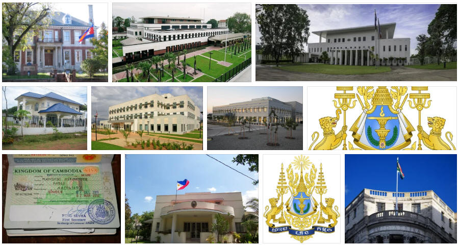 Cambodia embassies and consulates