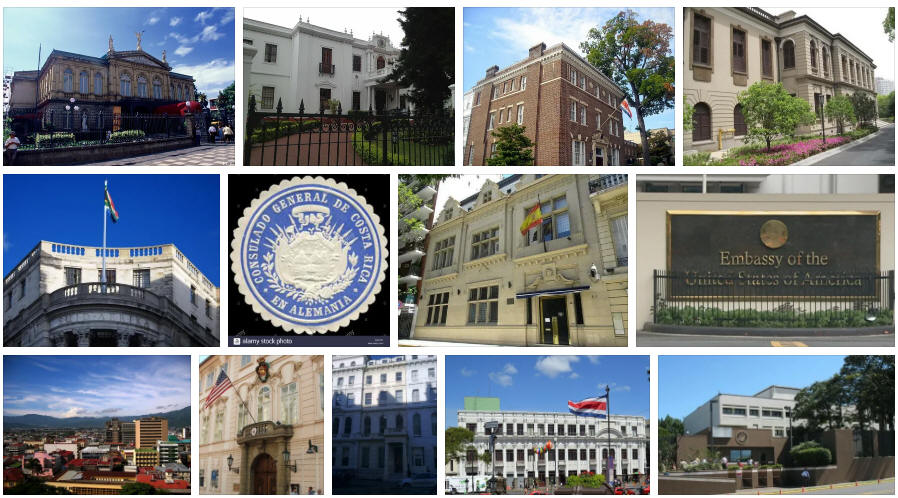 Costa Rica embassies and consulates