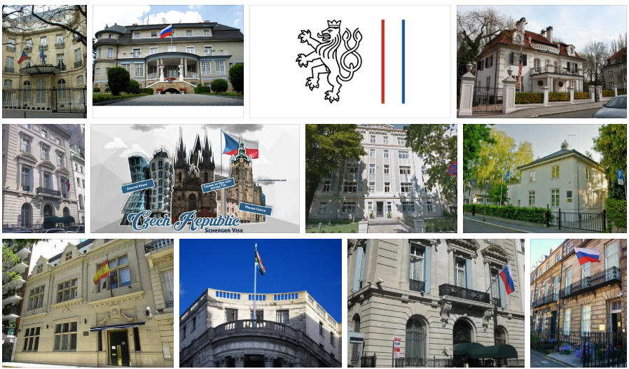 Czech Republic embassies and consulates