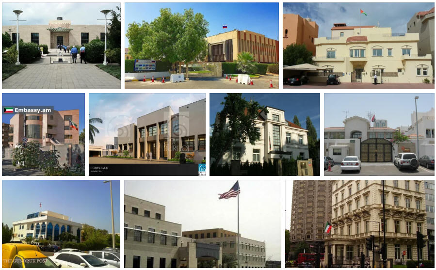 Kuwait embassies and consulates