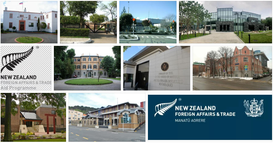 New Zealand embassies and consulates