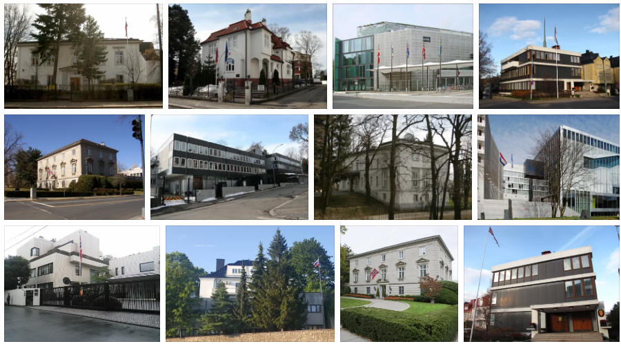 Norway embassies and consulates