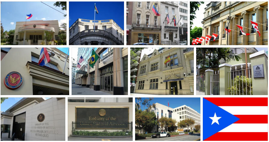 Puerto Rico embassies and consulates