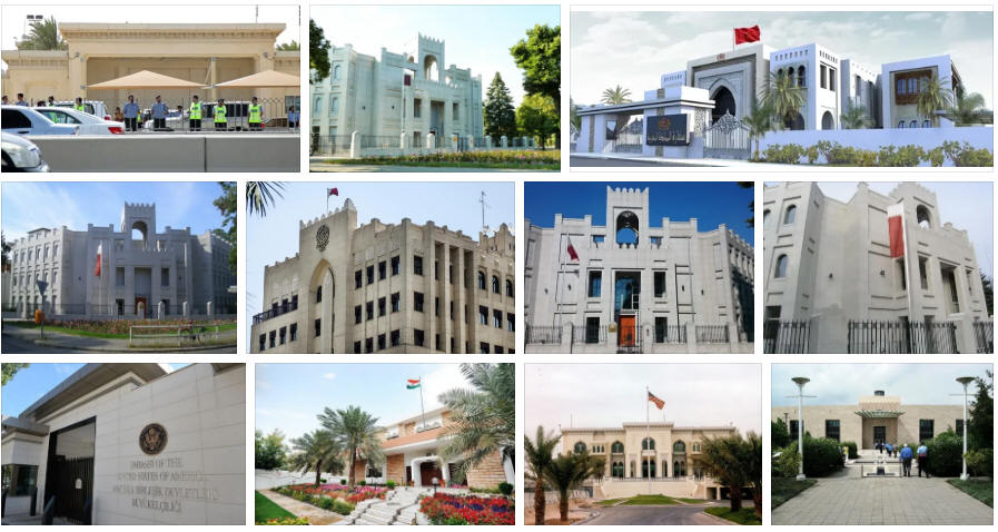 Qatar embassies and consulates