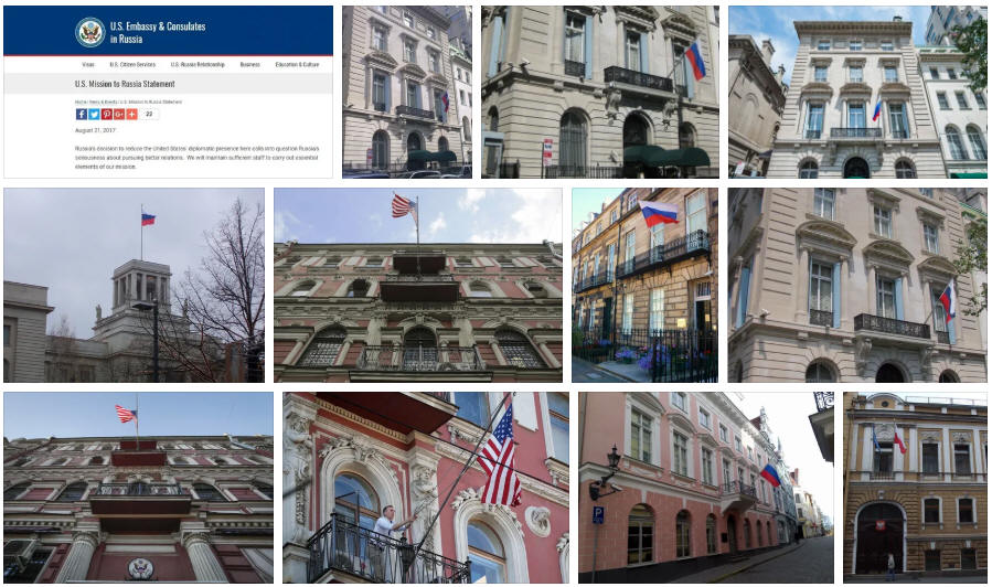 Russia embassies and consulates