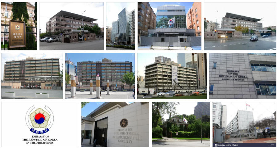 South Korea embassies and consulates
