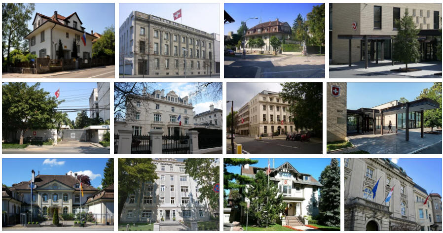 Switzerland embassies and consulates