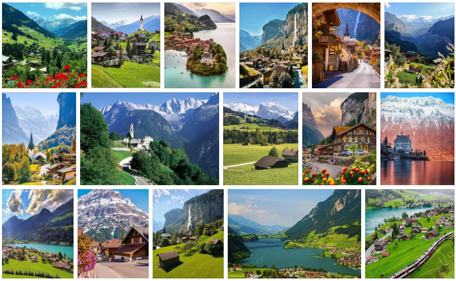 Switzerland: Various travel information