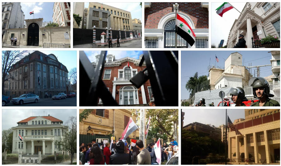 Syria embassies and consulates