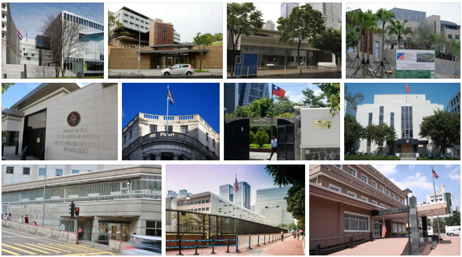 Taiwan embassies and consulates