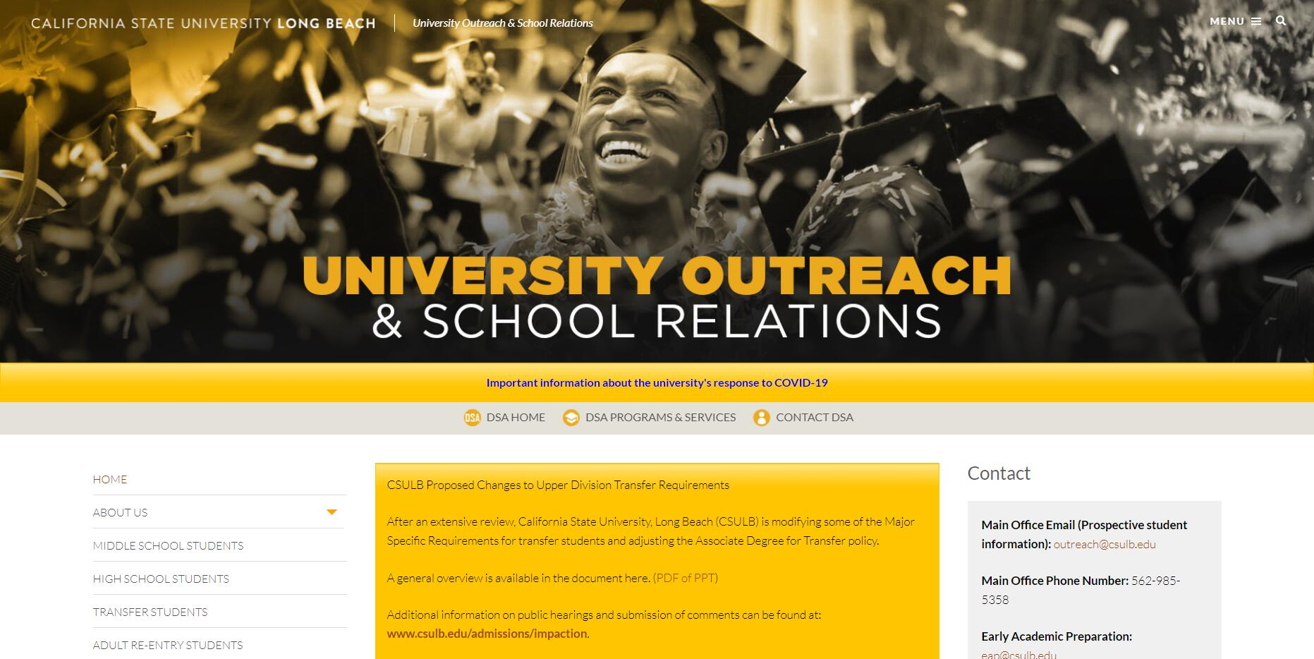 CSULB University Outreach & School Relations - Overview
