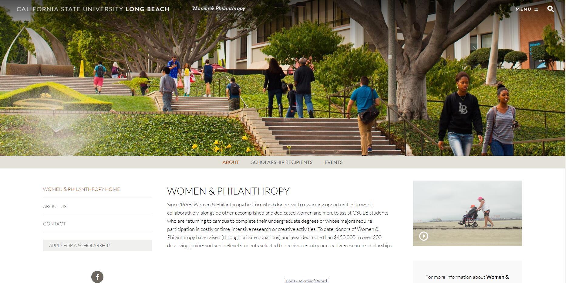 Women & Philanthropy - California State University, Long Beach